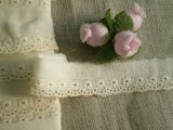 オリジナル・ダブルガーゼの花柄の綿レース
