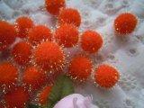 直径約10ミリ たっぷり30個入り キラキラボンテン オレンジ