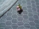 人気のオフシロの薔薇柄の亀甲柄のストレッチラッセルレース 3.3M