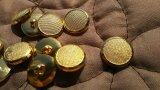 15mm 流行のボタンイヤリングに如何!?エレガントなゴールドカラーボタン 5個入り