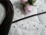 太さ約3mm 日本製 チョコ色のヌメ皮紐 1M