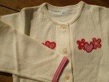 綿の生成りのニットの子供服 サイズ120