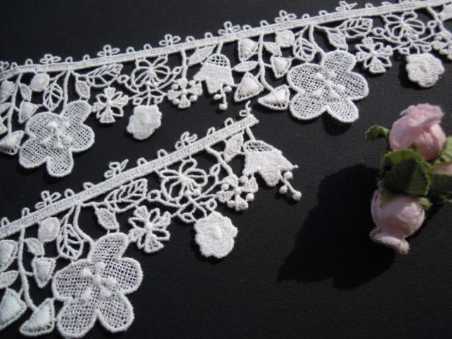 画像2: 可愛い花柄 人気のコットンケミカルのアクセサリーレース 20センチ