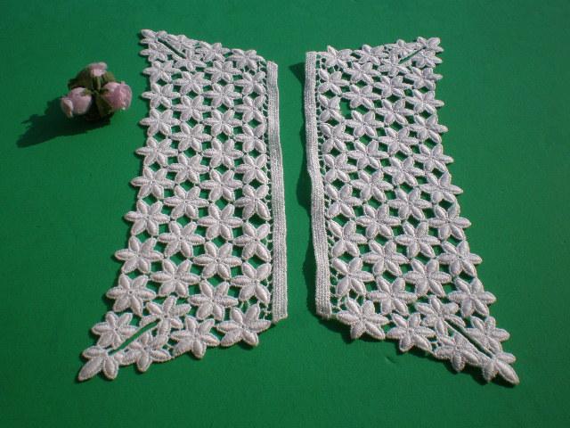 画像3: アイデア次第で・・・オフシロの付け袖の綿ケミカルレース 1組2枚