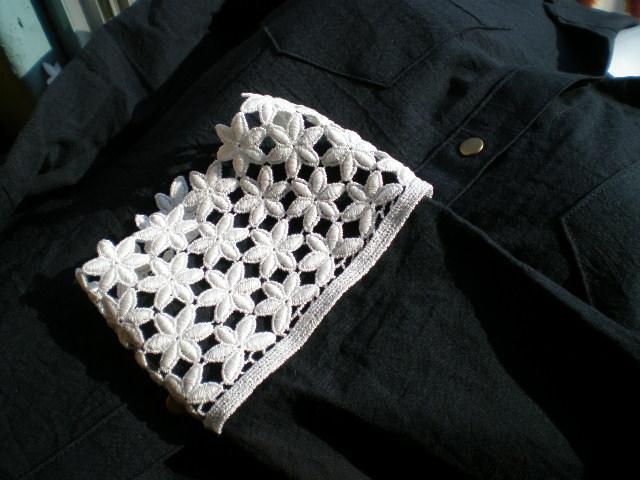 画像1: アイデア次第で・・・オフシロの付け袖の綿ケミカルレース 1組2枚