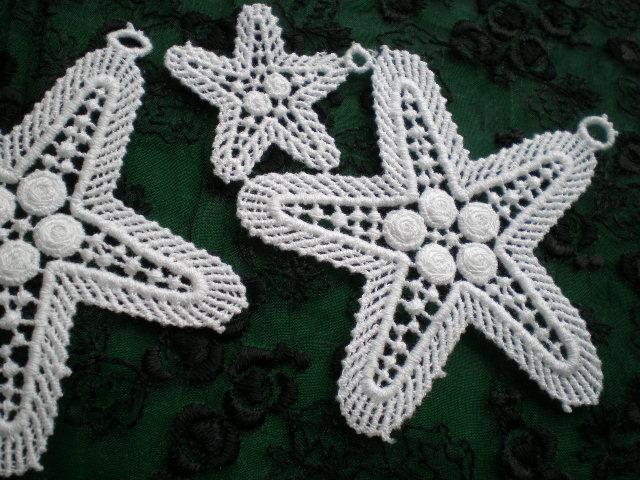画像1: 流行の綿ケミカルの☆柄のアクセサリーレース 2枚