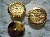 21mm エレガントなゴールドカラーのボタン 3個入り