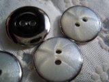 15mm エレガントなシルバーカラーのボタン 4個入り