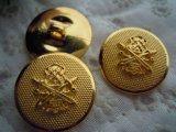 21mm エレガントなゴールドカラーボタン 3個入り