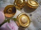 18mm エレガントなゴールドカラーボタン 4個入り
