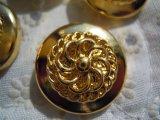 21mm エレガントなゴールドカラーボタン 4個入り