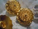 15mm エレガントなゴールドカラーボタン 4個入り