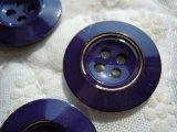 21mm エレガントなコンとゴールドカラーボタン 3個入り