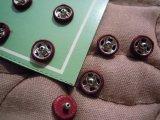 7mm エンジ シルクのくるみスナップ 12個入り