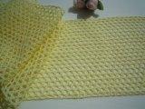 幅約10.5c 人気のレモンイェローの綿メッシュトーションレース 5M
