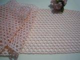 幅約10.5c 人気の淡いピンクの綿メッシュトーションレース 5M
