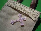 スパングルト-ン!ホットフィックス 幸運を呼ぶ?人気の十字架柄  ピンク