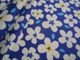メッチャ可愛いフラワー柄の綿麻キャンパス地 コン 1M