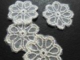 メッチャ!フェミニンなシルバー!可愛い花柄のオーガンジレース 18枚入り(プロパー商品)