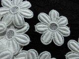 メッチャ可愛い花柄 人気のコットン・ケミカルのアップリケレース 12枚
