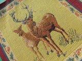 値下げしました!超!お買い得! 人気のゴブラン織り DEER(鹿)柄 小 (1パネ=約23cX約23c)X2枚入り
