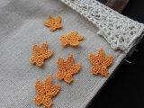 可愛い蝶々柄?のオレンジのモチーフレース 10枚