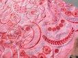 画像1: 最高級!ピンクの広幅サテンレース  1M (1)