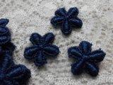 メッチャ可愛い花柄 人気のコットン・ケミカルのアップリケレース コンイロ 30枚