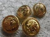 約18mm 人気のゴールドカラーボタン 4個入り