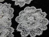 手作りマスのアクセントとして人気です。人気のコットン・花柄のケミカルモチーフレース 12枚