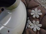 手作りマスのアクセントに!アイロン接着! レース工房☆太陽のぴたっとレース 人気の花柄の綿モチーフレース 20枚