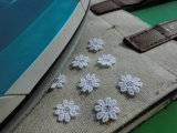アイロン接着! レース工房☆太陽のぴたっとレース 可愛い花柄の綿モチーフレース 20枚