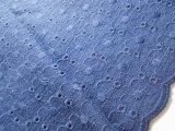 手作りのマスクに如何!メチャメッチャお買い得!可愛い綿のダブルガーゼレース 濃紺  1.5M