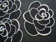 画像1: 人気の薔薇柄のチュール・モチーフレース 3枚入り (1)