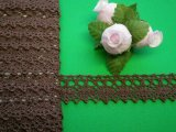 幅1.5cチョコレートブラウンの綿トーションレース・10M