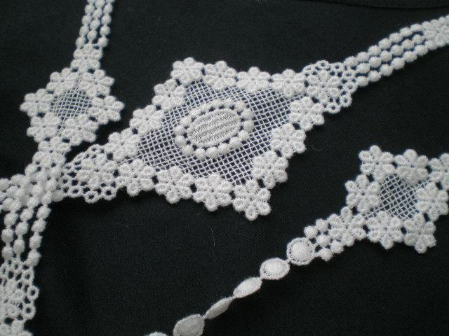 画像1: ちょっと贅沢な流行の綿ケミカルのアクセサリーレース 約1.5M