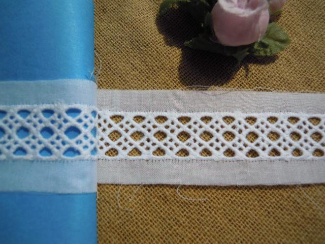 画像3: 幅約3c シロの人気の綿ハシゴレース 9M