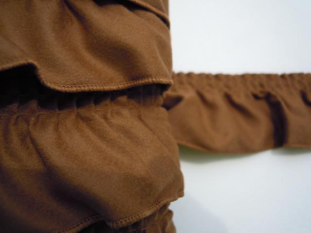 画像2: お買い得!幅約4c ブラウンカラーのスエードのブレード  3M