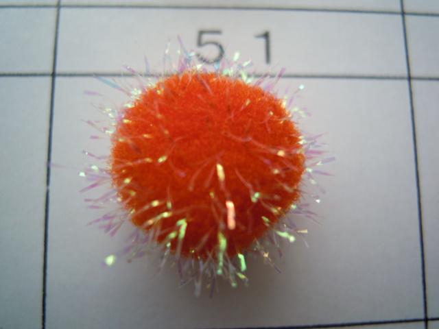 画像3: 直径約10ミリ たっぷり30個入り キラキラボンテン オレンジ
