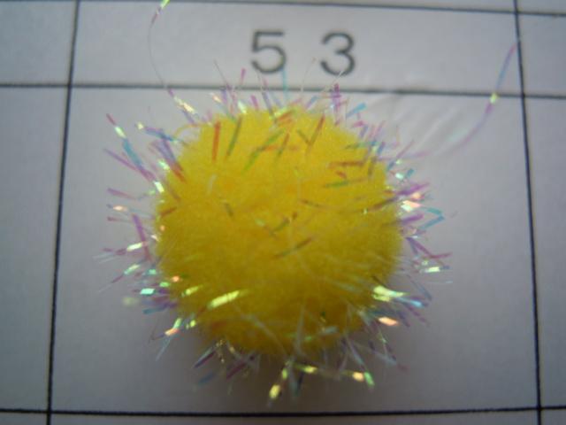 画像3: 直径約10ミリ たっぷり10個入り キラキラボンテン キイロ