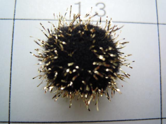 画像3: 直径約10ミリ たっぷり30個入り キラキラボンテン クロXゴールド