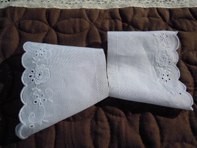 画像1: と〜っても可愛い綿の袖レース
