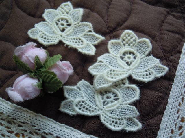 画像1: キナリ色のケミカル花柄モチーフ 3枚入り