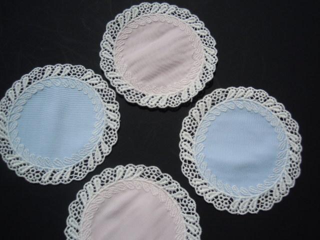 画像1: 超!お買い得です!ありえない価格での販売です!綿のコースターレース アソート 4枚