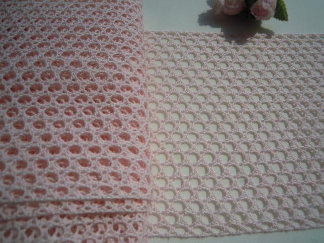 画像2: 値下げしました!!!幅約11c 人気の淡いピンクの綿メッシュトーションレース 5M
