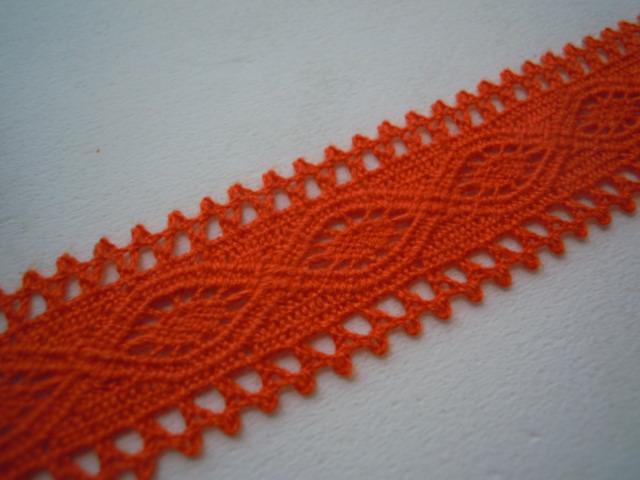 画像2: 特に人気柄のオレンジのトーション 3M