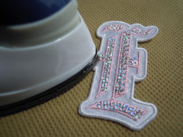 画像2: スパンブルト-ン!ホットフィックスのイニシャルモチーフ  E  ピンク