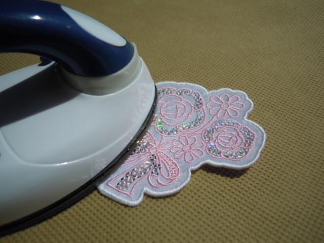 画像1: スパンブルト-ン!ホットフィックスの人気の薔薇柄  ピンク