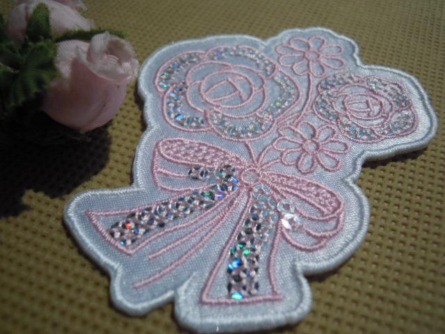 画像4: スパンブルト-ン!ホットフィックスの人気の薔薇柄  ピンク