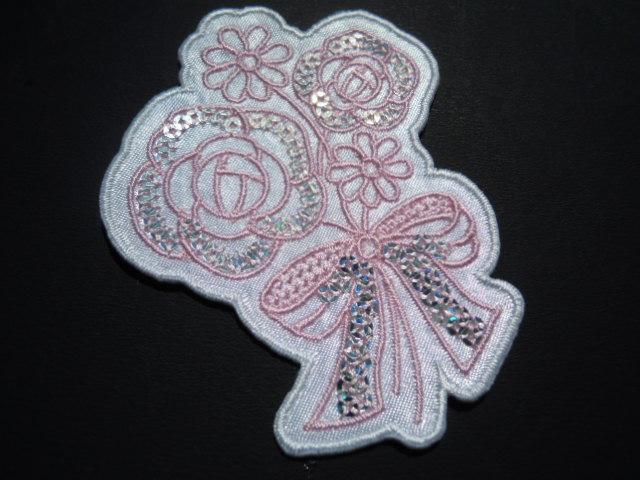 画像2: スパンブルト-ン!ホットフィックスの人気の薔薇柄  ピンク